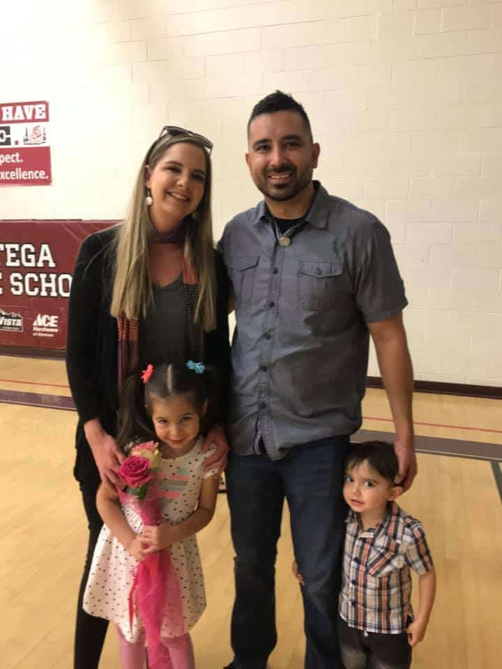 Tony and Nickie Lujan and their kids